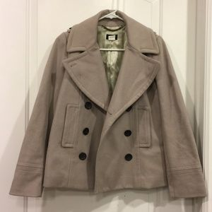J.Crew Cream/Tan Wool Peacoat Jacket Size 0